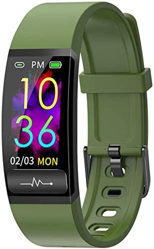 Reloj inteligente ECG reloj inteligente para hombres y mujeres s presión arterial fitness pulsera inteligente monitor de ritmo cardíaco impermeable rastreador de actividad E