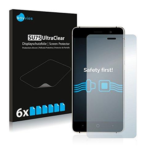 Savvies 6X Schutzfolie kompatibel mit Doogee X10 / X10S Bildschirmschutz-Folie Ultra-transparent