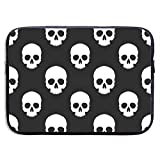 Laptop Case Bag White Human Skulls Laptop Computer Tablet Sleeve Cover Briefcase 13 Inch