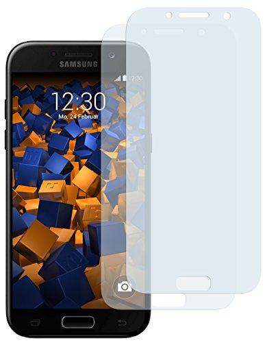mumbi Schutzfolie kompatibel mit Samsung Galaxy A5 2017 Folie klar, Bildschirmschutzfolie (2x)