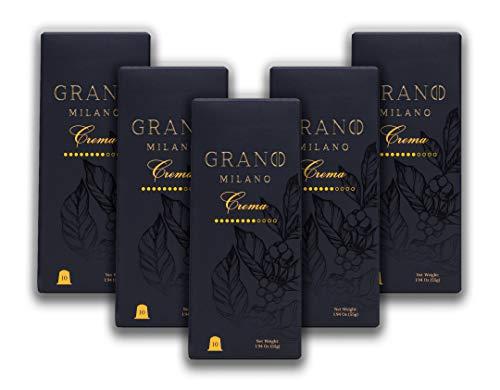 Grano Milano Espresso Capsulles Compatible with Nespresso* OriginalLine Machines Variety Pack (Pack of 50)