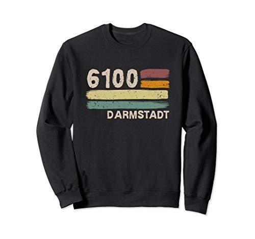 6100 Darmstadt Retro Postleitzahlen Alte PLZ Vintage Sweatshirt