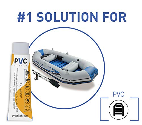 The Best Waterproof PVC Glue | #1 Outdoor Gear Repair Kit | Top Liquid Patch for: Vinyl Inflatables Pools Boats Paddle Boards Air Beds Air Mattresses Waders Neoprene Wetsuits Polyester Tents Cords