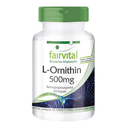 L-Ornithin 500mg - HOCHDOSIERT - Vegan - 120 Kapseln