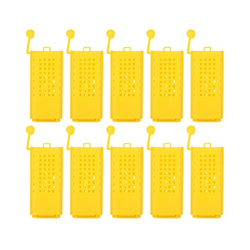 TOPINCN 10 UNIDS Beekeeping Crianza Copa Kit De Plástico Abeja Reina Jaulas Rodillo Transporte Caja Colector Apicultor Equipo de Apicultura Herramienta