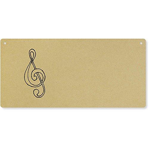 Azeeda 'Music Symbol' Large Wooden Wall Plaque/Door Sign (DP00032010)