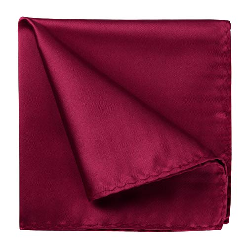 HISDERN Classic Mens Solid color Pocket Square Party Wedding Handkerchief Dress Tuxedo …