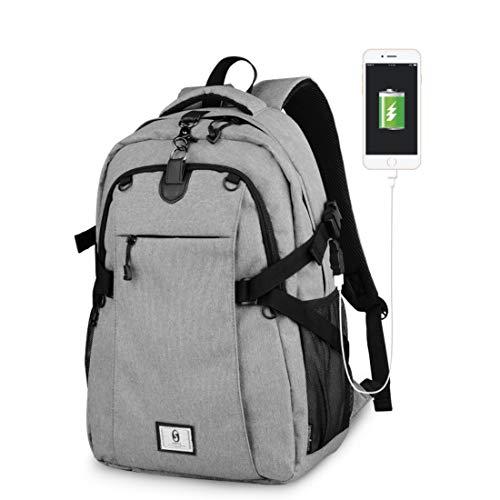 Mochila Estudiante Bolsa Casual Oxford Tela multifunción USB/teléfono móvil MP3 Gimnasio al...