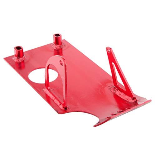 D DOLITY Aluminum Engine Skid Plate Protector for Honda XR50 CRF50 Dirt Bike 50cc 70cc 90cc 110cc 125cc 140cc Lifan YX SSR Thumpstar Coolster - Red