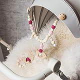 Mamimami Home 2pc Bebé Teethers De Madera Orgánico Ecológico Carrito Cadena De Madera En Forma de Pájaro Dentición Pulsera de Enfermería Masticable Juguete Montessori Juguetes