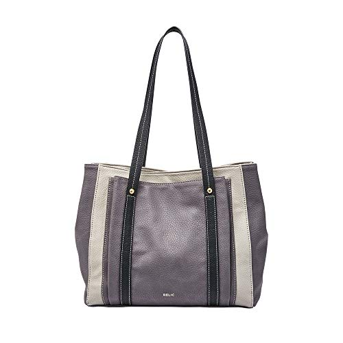 Relic Bailey Double Shoulder Bag Grey/Black