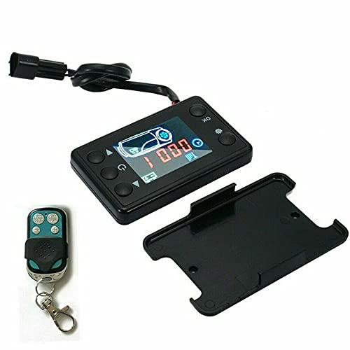 ATING Calentador de estacionamiento termostático,Monitor LCD del calentador diesel del aire del coche,Controlador de estacionamiento del interruptor+Control remoto de 4 botones