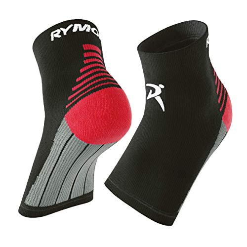 Rymora Plantar Fasciitis Socks for Circulation - Black, Large - Ankle Compression Sleeve for Men & Women - Neuropathy, Arch Support, Foot Pain Nano Socks