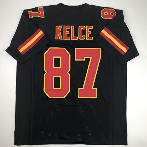 Unsigned Travis Kelce Kansas City Black Custom Stitched Football Jersey Size Men's XL New No Brands/Logos