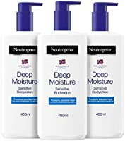 Neutrogena Deep Moisture Bodylotion Sensitive, Norwegische Formel, Körpercreme parfümrei, Trockene und sensible Haut,...