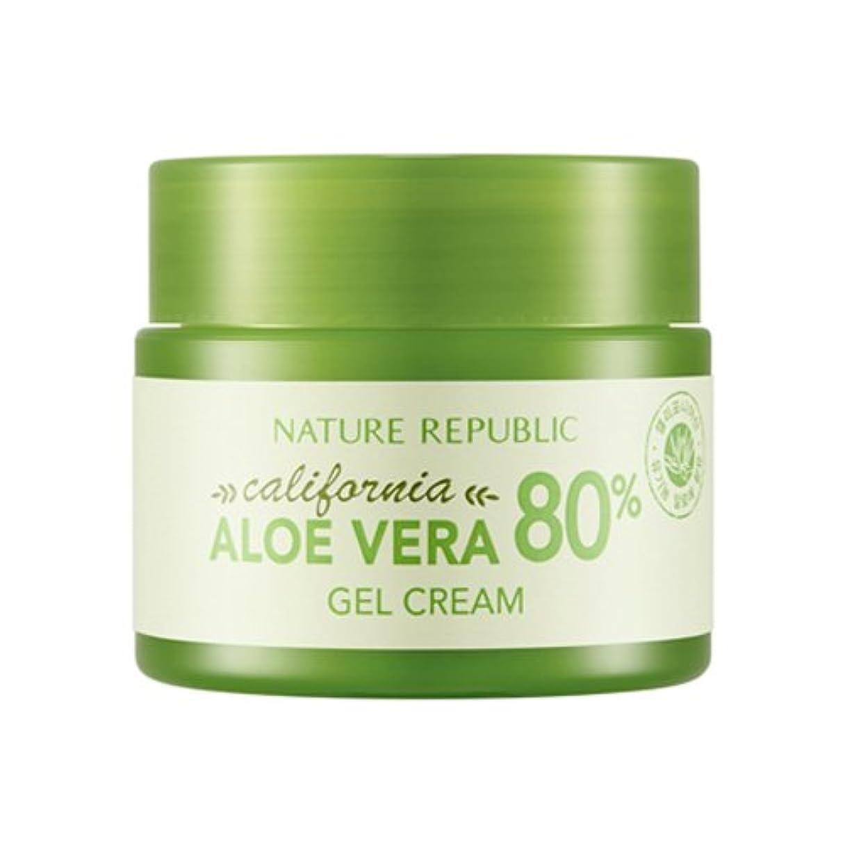 相反する同盟深い[ネイチャーリパブリック] Nature Republic カリフォルニアアロエベラ80%のゲルクリーム California Aloe Vera 80% Gel Cream [並行輸入品]