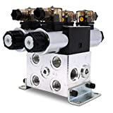 Electric Hydraulic Double Acting Directional Control Valve, 2 Spool, 15 GPM (A Spool, Controls Double Acting Cylinders, 12 Volt)