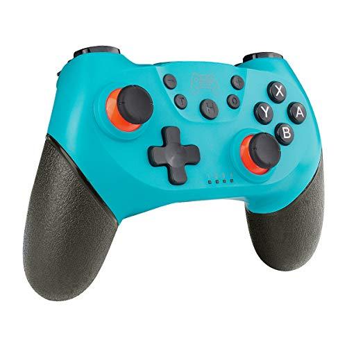 CHEREEKI Controller Kompatibel mit Switch, Wireless Gamepad Joystick für Switch mit Dual Shock Vibration und Turbo Funktion Achsen Gyroskop Gaming Controller