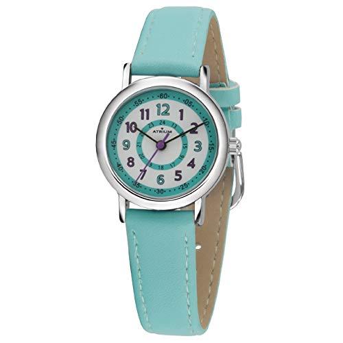 ATRIUM Kinder-Armbanduhr Mädchen Analog Quarz 5 Bar Metall Lederimitat A31-106