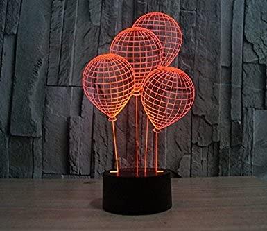3D Ballon Rollschuhe Leuchtende Led-Lichter 7 Farben Erstaunliche Illusion Kunstskulptur Fernbedienungslichter Produzieren Einzigartige Lichteffekte Und Dekorative Kreative Geschenke