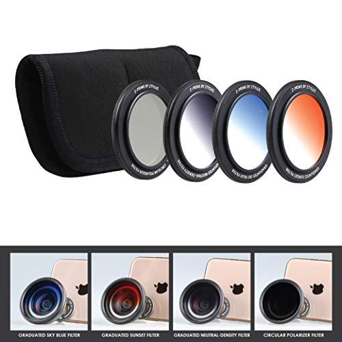 Z-Prime 16mm Multicoated Graduated Color Filter Kit for Ztylus Z-Prime Wide Angle & Telephoto Lens. (CPL Circular Polarizer Filter + Orange Sunset Filter + Sky Blue Filter + ND Neutral Density Filter)