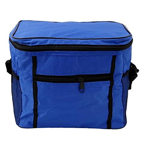 Uayasily Cesta De Picnic Bolsa De Picnic con Aislamiento Térmico Paquete por Caja De Refrigeración De Alimentos Paquete De Comidas Aire Libre Amigos Familias Azul