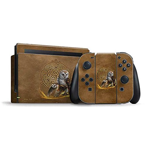 Skinit Decal Gaming Skin Compatible with Nintendo Switch Bundle - Officially Licensed Tate and Co. Owl Celtic Knot Design