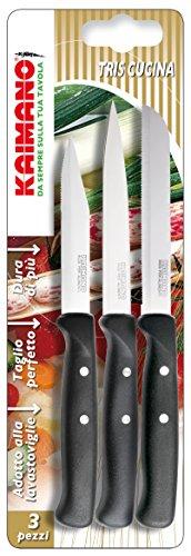 Kaimano KPM030903N Premium Set di Cucina, Acciaio Inossidabile, Nero, 3 unità