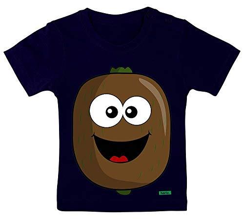 HARIZ Baby T-Shirt Kiwi Lachend Früchte Bunt Plus Geschenkkarte Matrosen Dunkel Blau 9-15 Monate / 70-79cm
