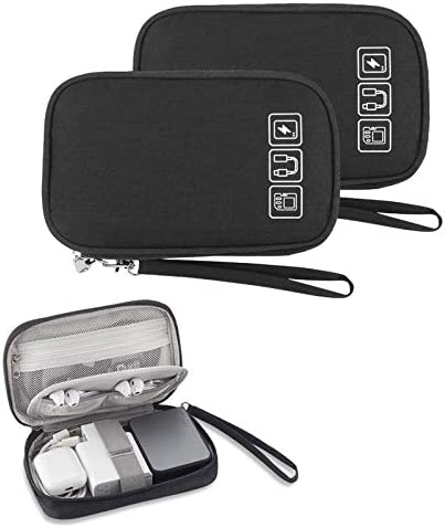 2PCS Electronic Organizer Small Travel Cable Organizer Bag Pouch Portable Electronic Accessories product image