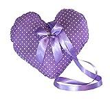Handmade Design - Lavendelkissen - Duftkissen - Zierkissen - mit echtem Lavendel (Herz - Lila - zum...