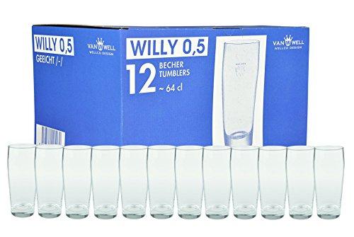 Van Well 12er Set Bierglas Willibecher 0,5l geeicht