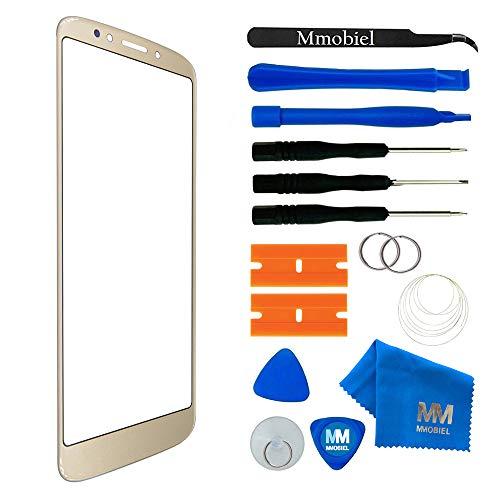 MMOBIEL Kit de Reemplazo de Pantalla Táctil Compatible con Motorola Moto E5 / Moto E 5Gen. 5.7Plg(Oro) Inc Herramientas