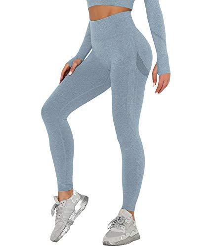 DUROFIT Anticellulite Leggings Sportivi Donna Vita Alta Pantaloni Sportivi Donna Yoga...