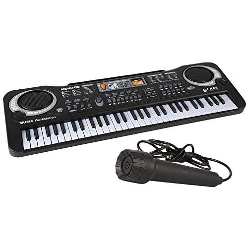 Lowest Price! US/EU Plug Keyboard E-Piano Kids Piano Keyboard 61 Keys Microphone Entry-level Childre...