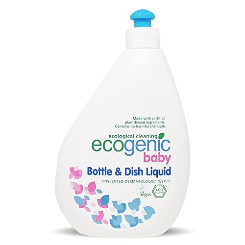 Ecogenic Baby Spülmittel für Babyflaschen und Spielzeug, Ökologisch, 500 ml, Vollständig biologisch abbaubar (1 x 500ml)