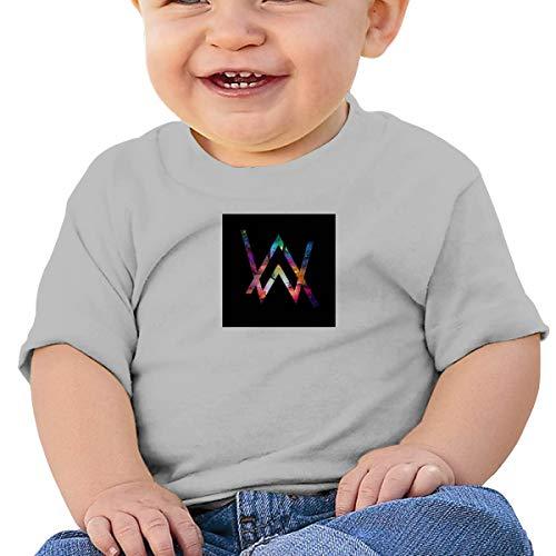 Baby's A_LAN Walke_r Basic shirt met korte mouwen, SOFE, Katoen, Herdenkingsgeschenk Zwart