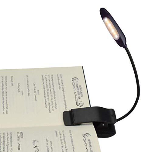 JiuXiuHeiShan-MY Luces De Lectura Recargables 7 Led Book Light Easy Clip En La Lámpara del Libro para Leer En La Cama 2 Colores con Atención Ratones De Biblioteca Y Niños