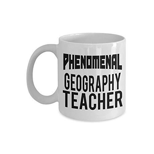 Taza fenomenal del profesor de la geografía de  Primavera! Taza de la geografía | Taza del profesor | Regalos para el profesor de geografía Regalo divertido de la mordaza Café Taza de té Blanco