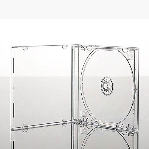 Vision Media® CD-Hüllen mit durchsichtigem Einsatz, 10 Stück