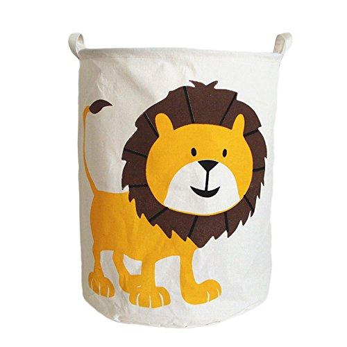G-Like Wäschekorb Faltbar Wäschesammler Lagerkorb - Große wasserdichte Leichte Tragbare Aufbewahrungskörbe Behälter Kleidung Spielzeuge Umweltfreundlich Dekoration (Löwe)