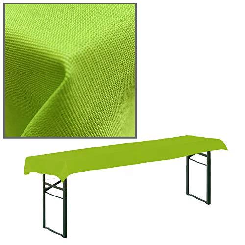 JEMIDI Stofftischdecke für Bierbanktische Tischdecke kariert Tischdecken Decke Tisch Tischdecken (Grün, 90cm x 240cm für Biertische)