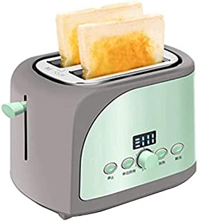 Mopoq Sandwich Mini Automatic Toaster Spit Driver Bread Toaster Defrost Reheat Cancel Function Safe 2 Slice Toaster Wide S...