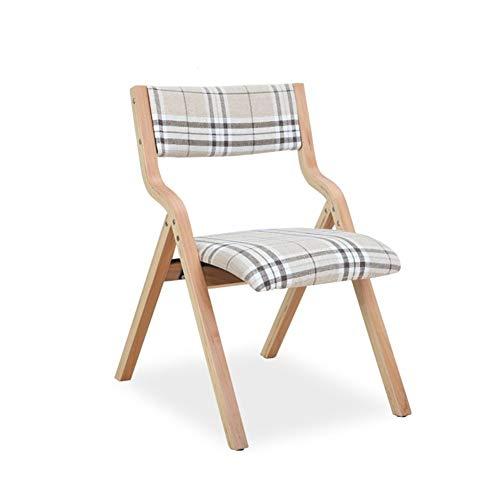 LLYU klapstoel van massief hout, eenvoudig, modern, voor thuis, eettafel en stoelen