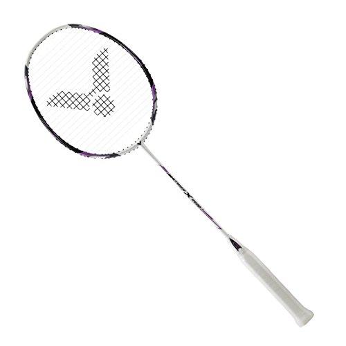 Victor Meteor X 2600 J G5 Strung Badminton Racket (Purple/White) (4U)