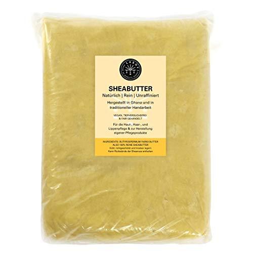 LASOYI® Sheabutter (5 Kg) - Unraffiniert aus Wildsammlung, hergestellt in traditioneller Handarbeit in Ghana - vegane und fair gehandelte Naturkosmetik
