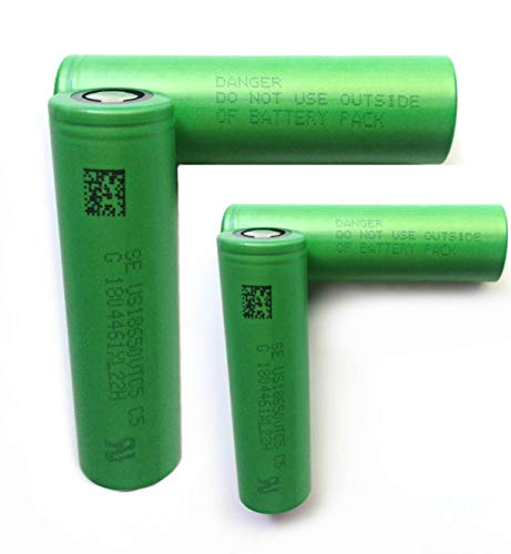 4 Pack of Authentic VTC5, 2600mAh 3.7V 30A, Flat Top, 18650-Battery, for Flashlight