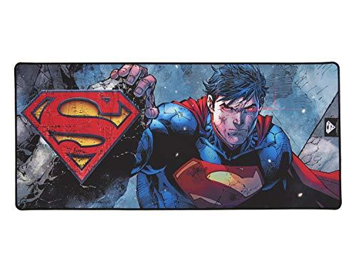 Superman Tapis de Souris Antidérapant Finition Perlée Licence Officielle DC Comics Taille XXL 90 mms x 40 mms