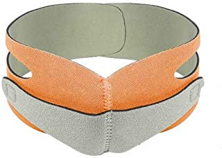 ARTISTORE Face Lift Mask,V Line Mask,Face Slimming Strap,Face Lift Tape,Double Chin Reducer Reusable for Men and Women,Breathable Face Shaper Band,Contour Tightening Firming and Anti Aging(Orange)