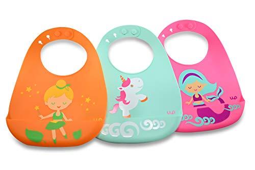 Silicone Baby Bibs (Watt Productions) - Infant - Mermaid/Fairy/Unicorn Designs